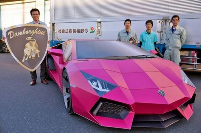 Meet Damborghini Lamborghini Aventador Made Of Cardboard