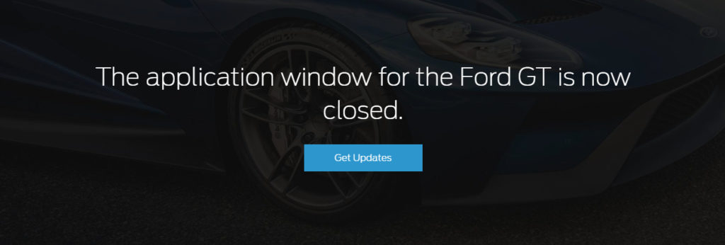 FordGTApplicationClosed
