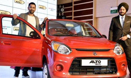 Dhoni at the Alto launch