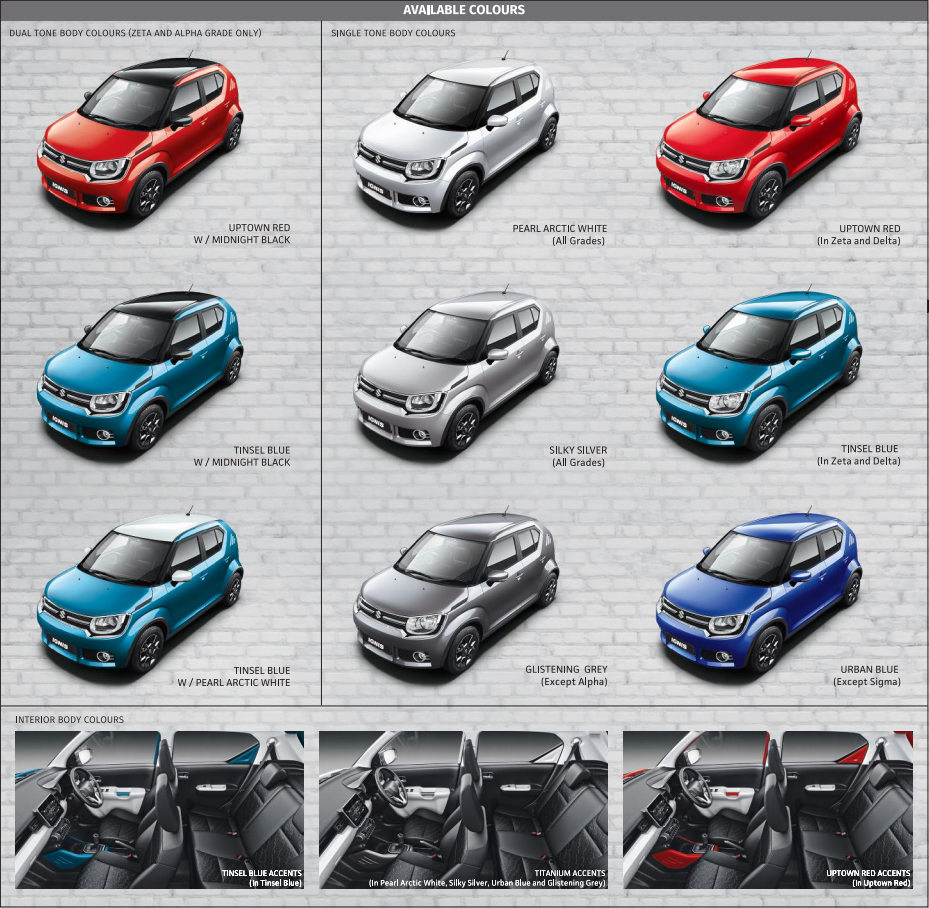 Maruti Suzuki Ignis Colors