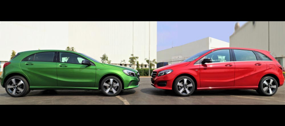 mercedes benz a class b class night edition launched autodevot