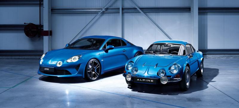 Doppelset Renault Alpine Vision Concept Weiss und Alpine A110 limitiert 1 von 50