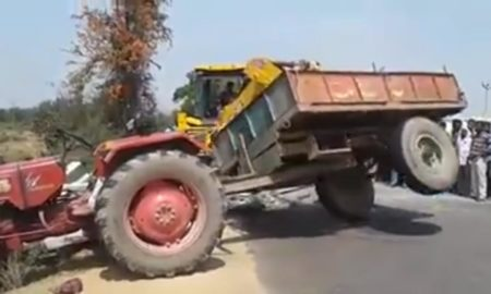 Tractor-commit-suicide