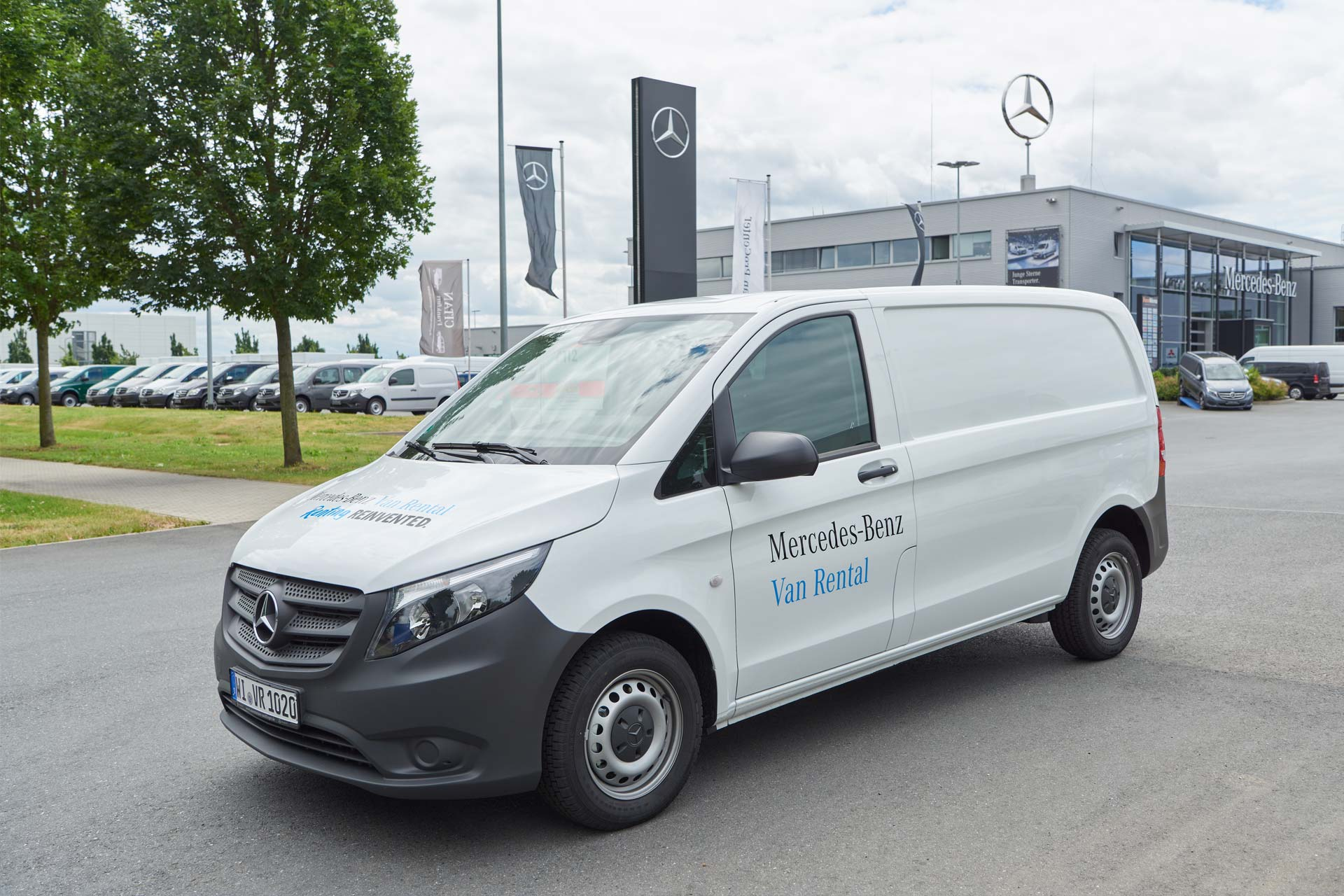 mercedes benz launches van rental service in germany