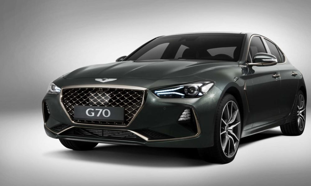 genesis g70 from south korea is ready to fight the germans