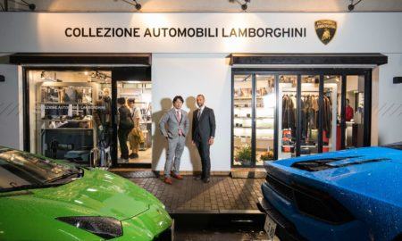 Lamborghini opened its first official Collezione Automobili Lamborghini store in Ginza, Japan