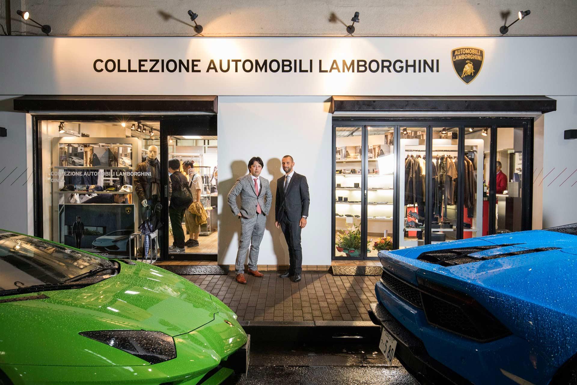 Lamborghini opened its first official Collezione Automobili Lamborghini store in Ginza, Japan