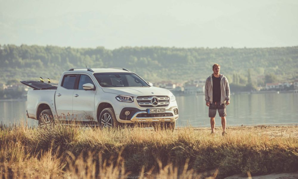 Sebastian steudtner is mercedes benz x class brand for Mercedes benz brand ambassador