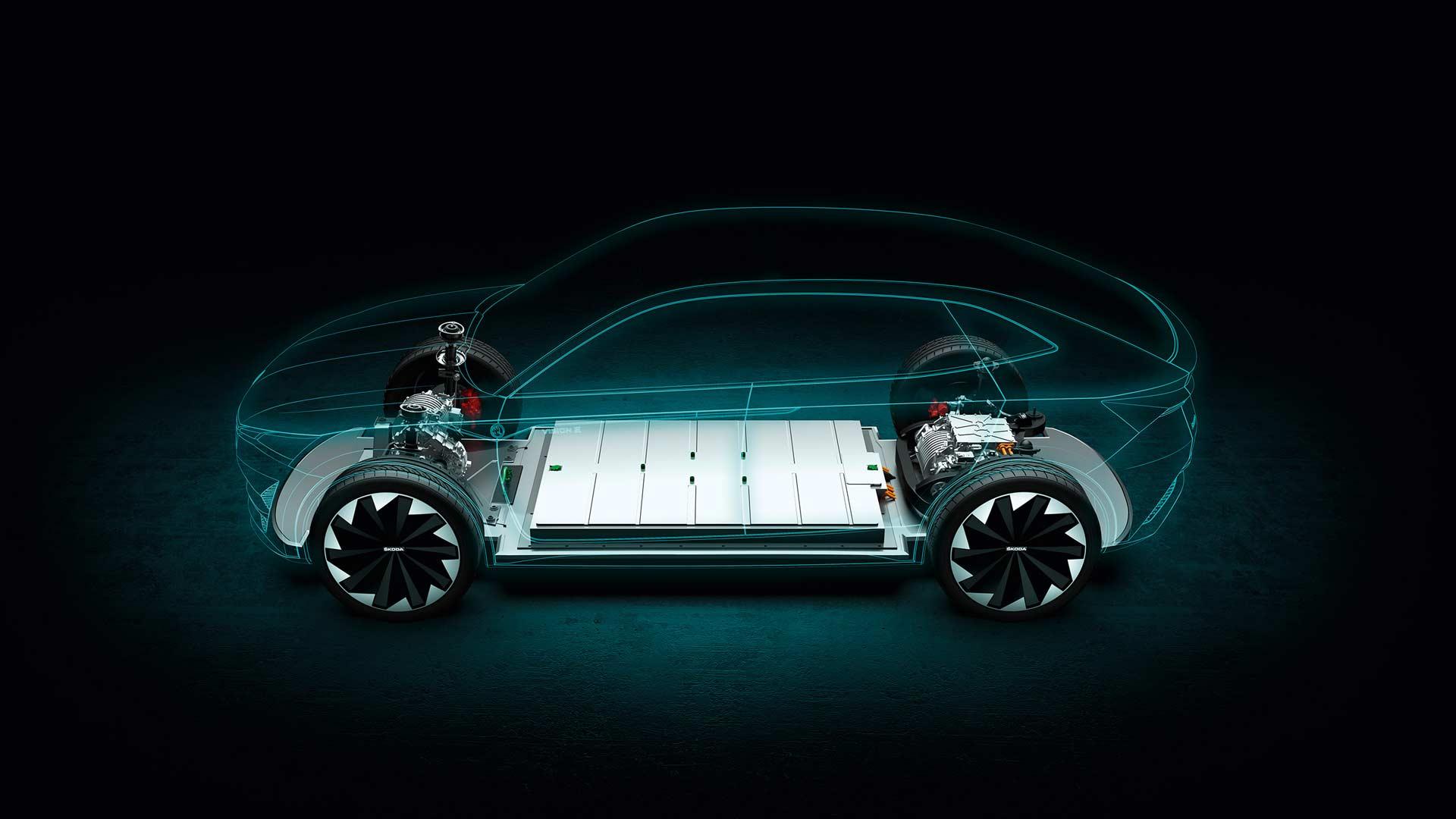 Skoda-Vision-E-battery-chassis