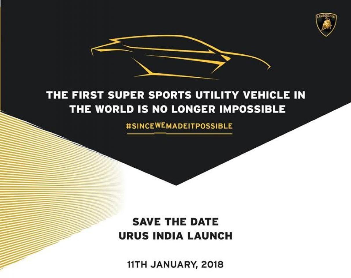Lamborghini-Urus-India-launch-date-Jan-11-2018