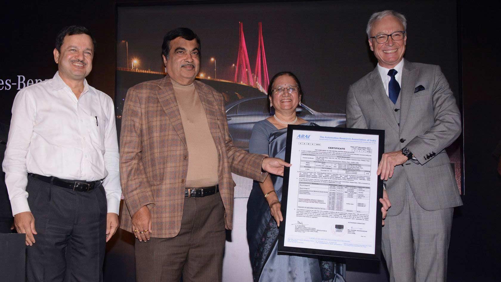 Mercedes-Benz-India-BS-VI-Vehicle-ARAI-Certificate