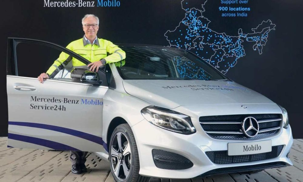 Mercedes benz india launches mobilo 24x7 roadside for Mercedes benz road side assistance