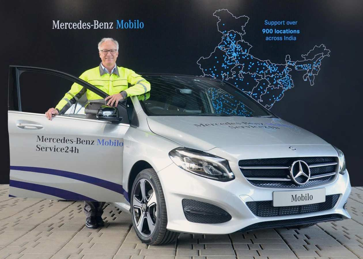 Mercedes benz india launches mobilo 24x7 roadside for Mercedes benz repairs
