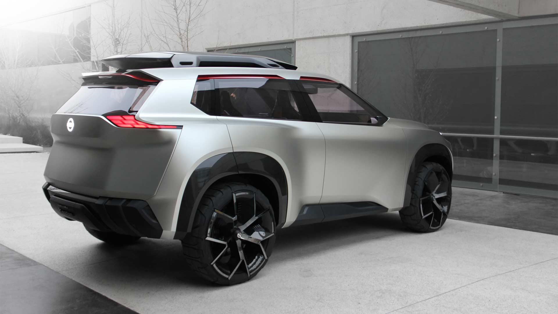 nissan showcases threerow xmotion concept  autodevot