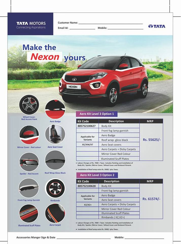 Tata-Nexon-Aero-Kit-Options-Level-3