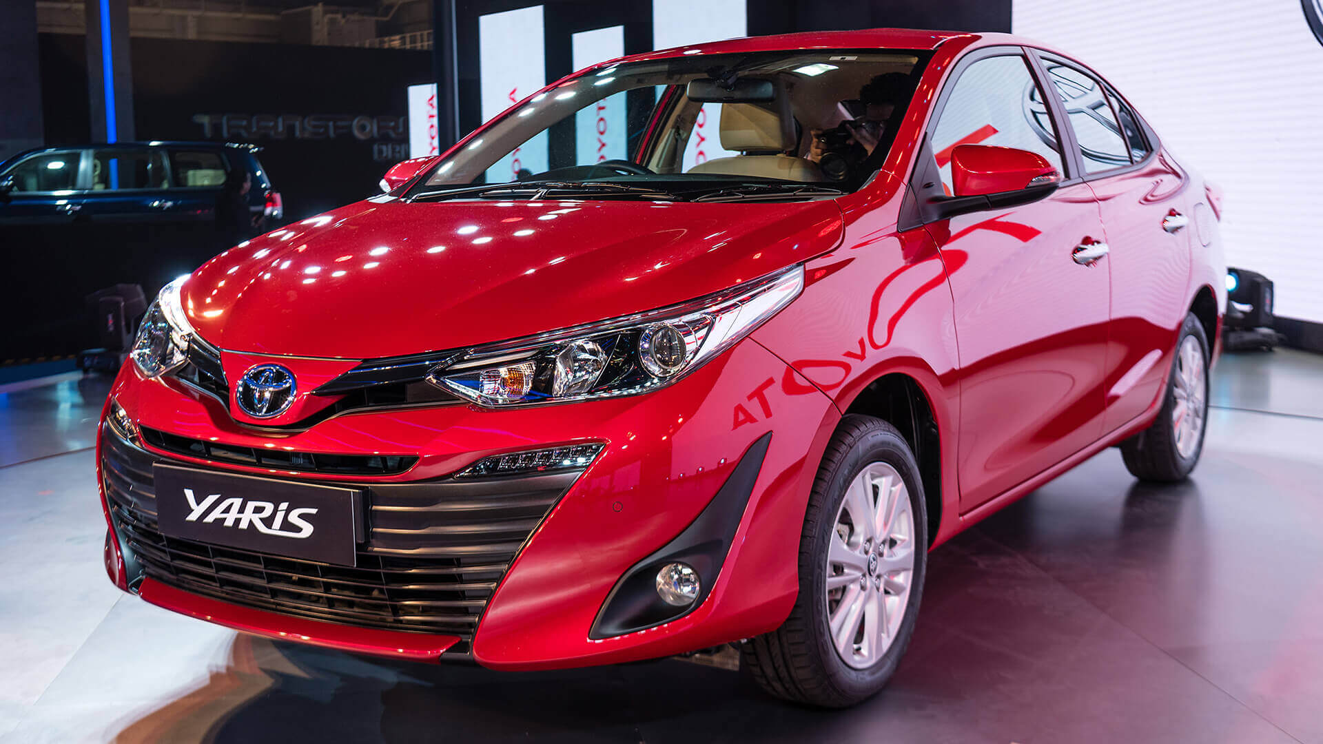first look toyota yaris at auto expo 2018 autodevot. Black Bedroom Furniture Sets. Home Design Ideas