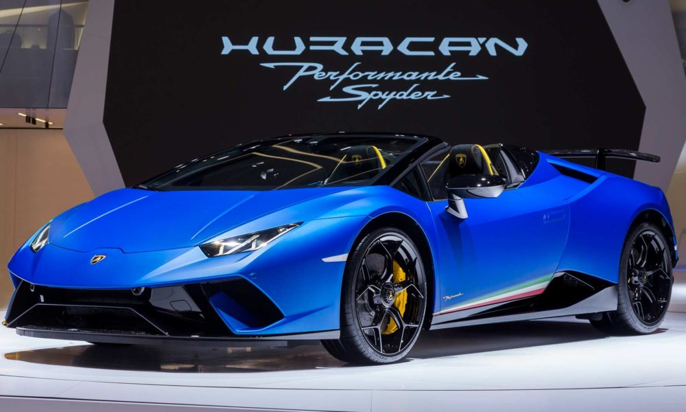 Lamborghini Huracan Performante Spyder Drops Top In Geneva Autodevot