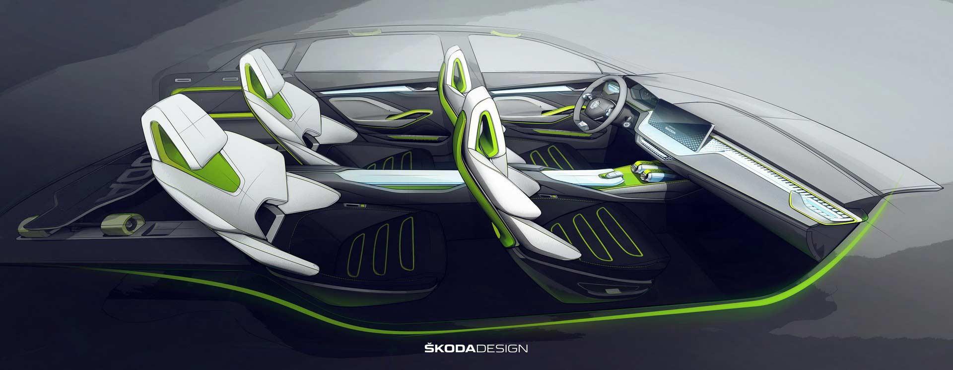 Skoda-Vision-X-concept-interior-sketch