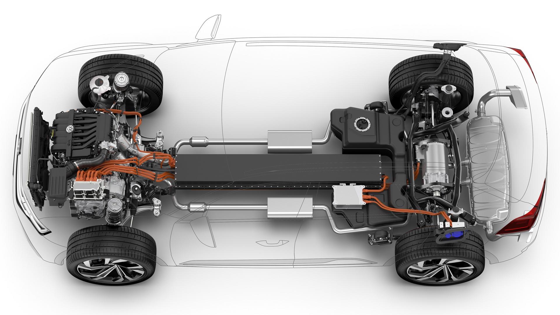 Volkswagen Atlas Cross Sport concept chassis