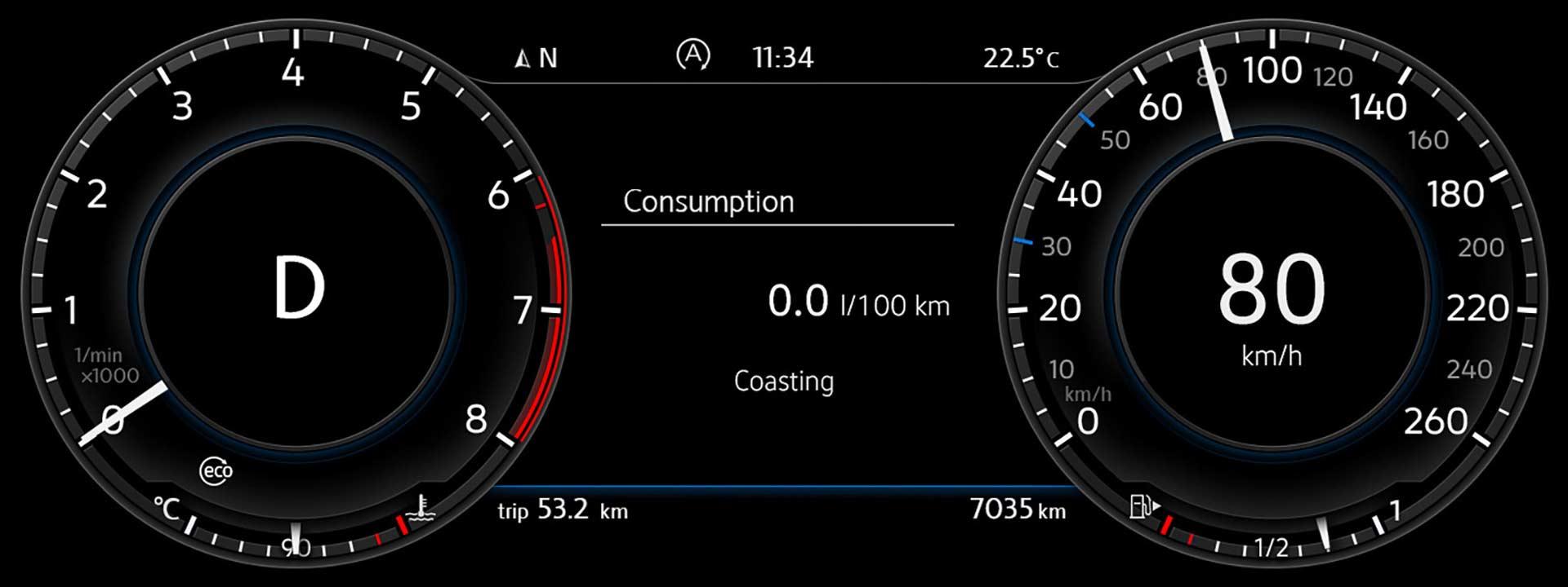 Volkswagen-Golf-130-PS-1.5-TSI-ACT-BlueMotion-instrument-cluster