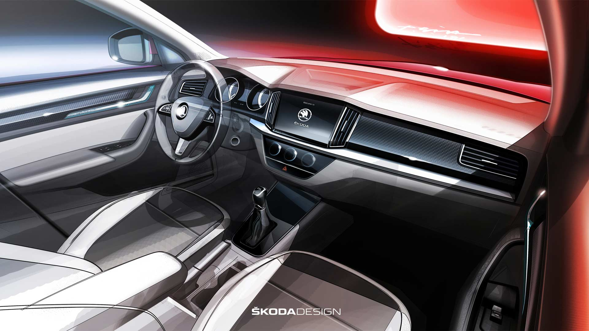 Skoda-Kamiq-interior-sketch