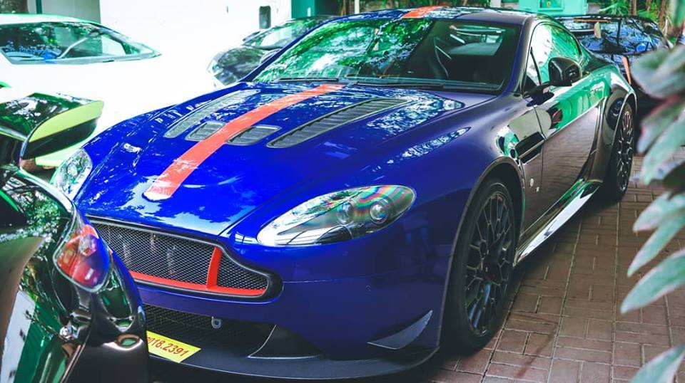 Aston Martin Vantage AMR V12 Bengaluru Zaffre Blue with Red graphic