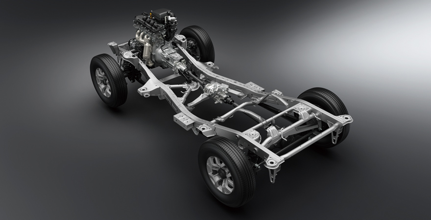 2019-Suzuki-Jimny-ladder-frame-chassis