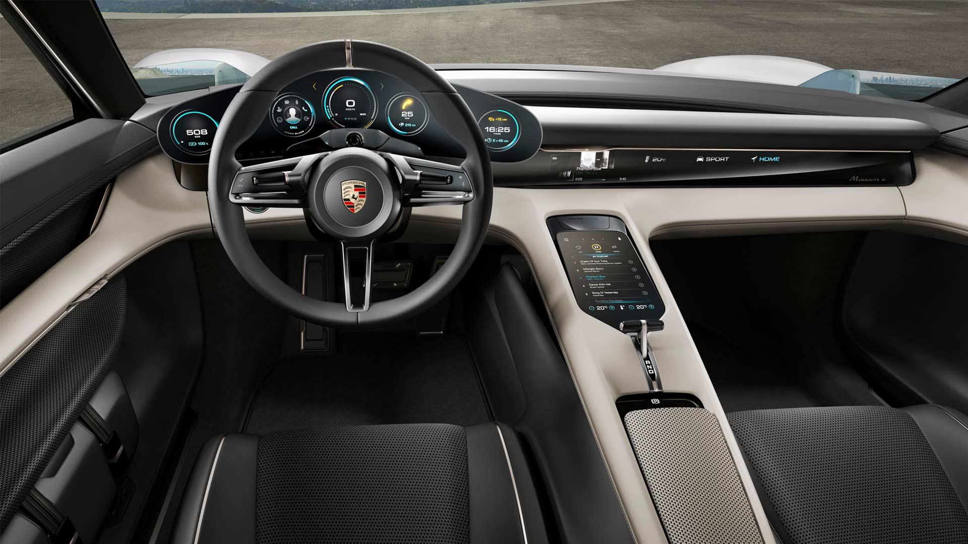 Porsche-Mission-E-concept-interior