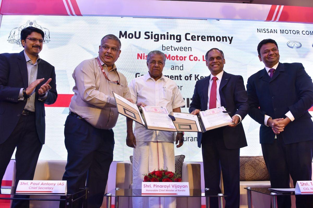 Nissan India Digital Hub MoU Kerala