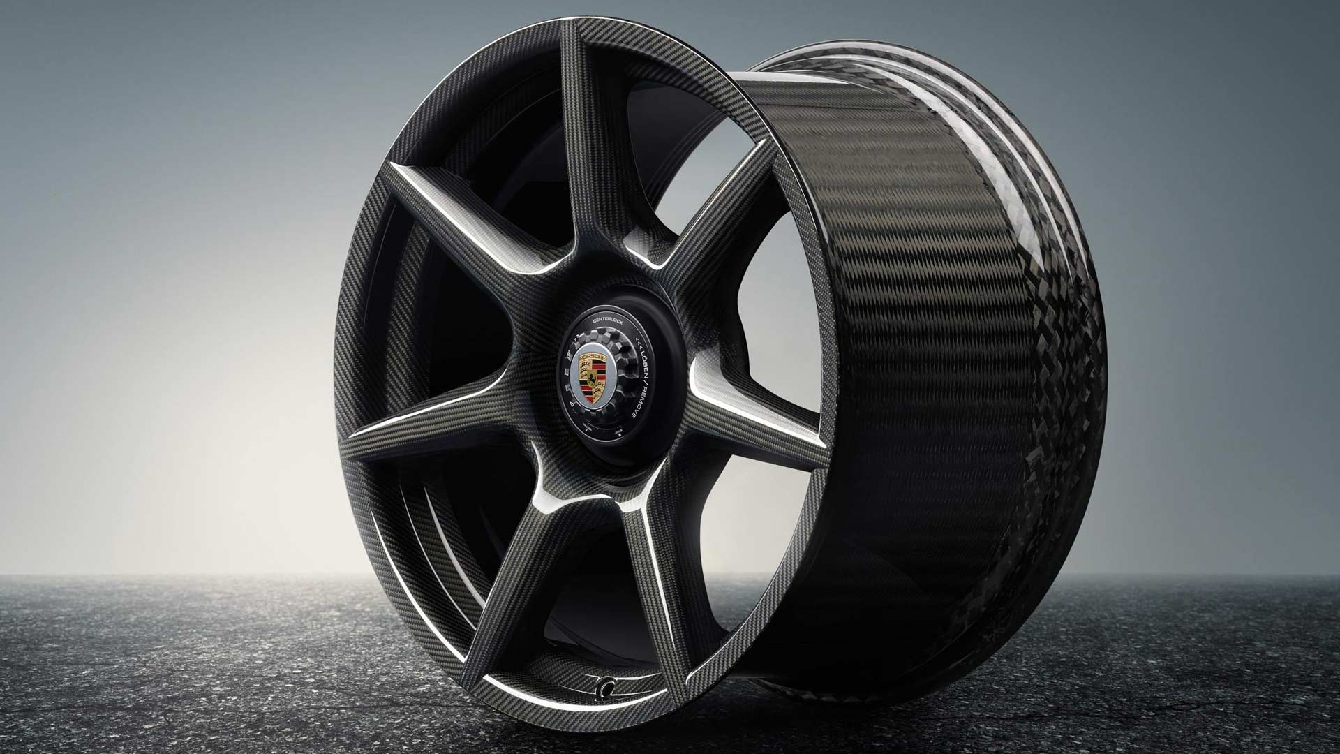 Porsche 911 Turbo 20-inch Braided Carbon wheels with central lock_4