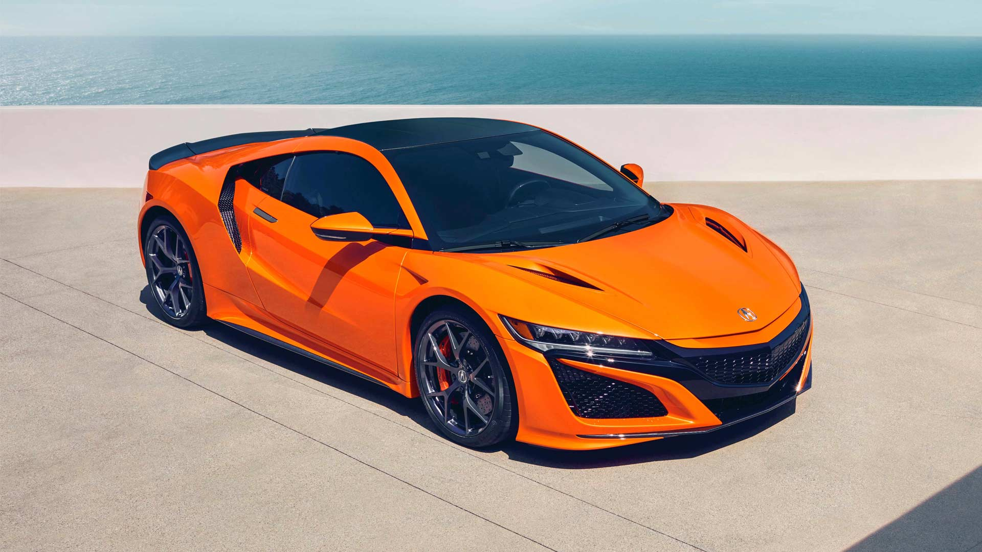 2019 Acura NSX gets drenched in Thermal Orange at Pebble Beach ...