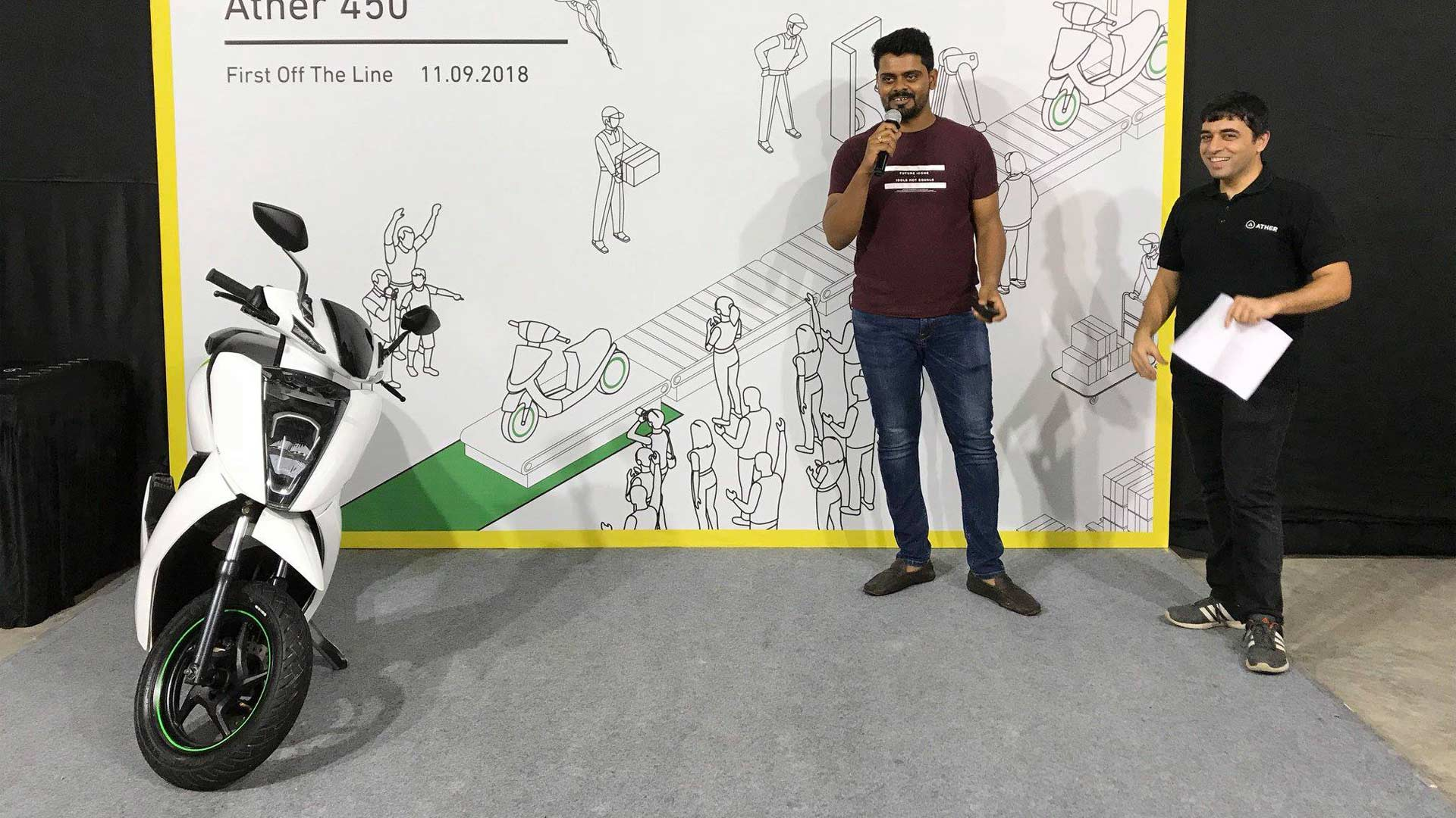 First-Ather-450-electric-scooters-delivery-Bengaluru