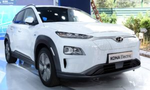 Hyundai Kona Electric showcased at Move_The Global Mobility Summit 2018 India