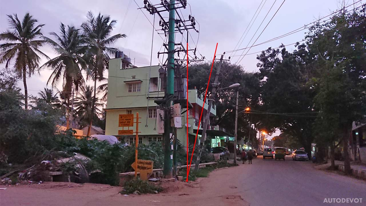 Leaning Indian electric poles