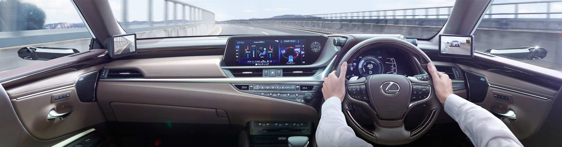 Lexus Digital Side-View Monitor 2019 ES 300h Interior