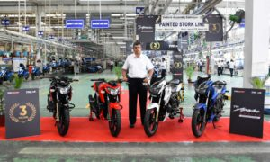 TVS Apache Series crosses 3 million sales milestone KN Radhakrishnan Mysore