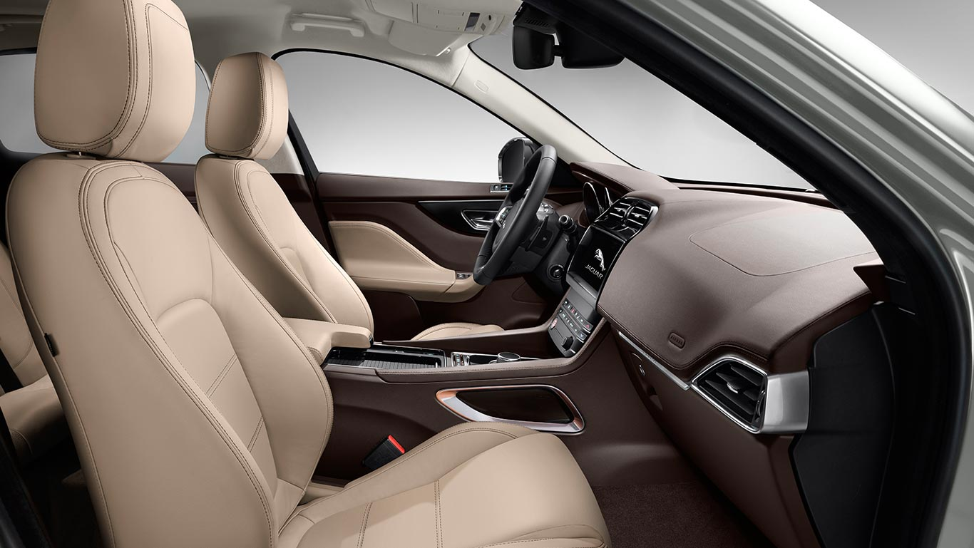 Locally Produced Jaguar F Pace Launched In India At Rs 6317 Lakh 2017 Suv Interior Prestige