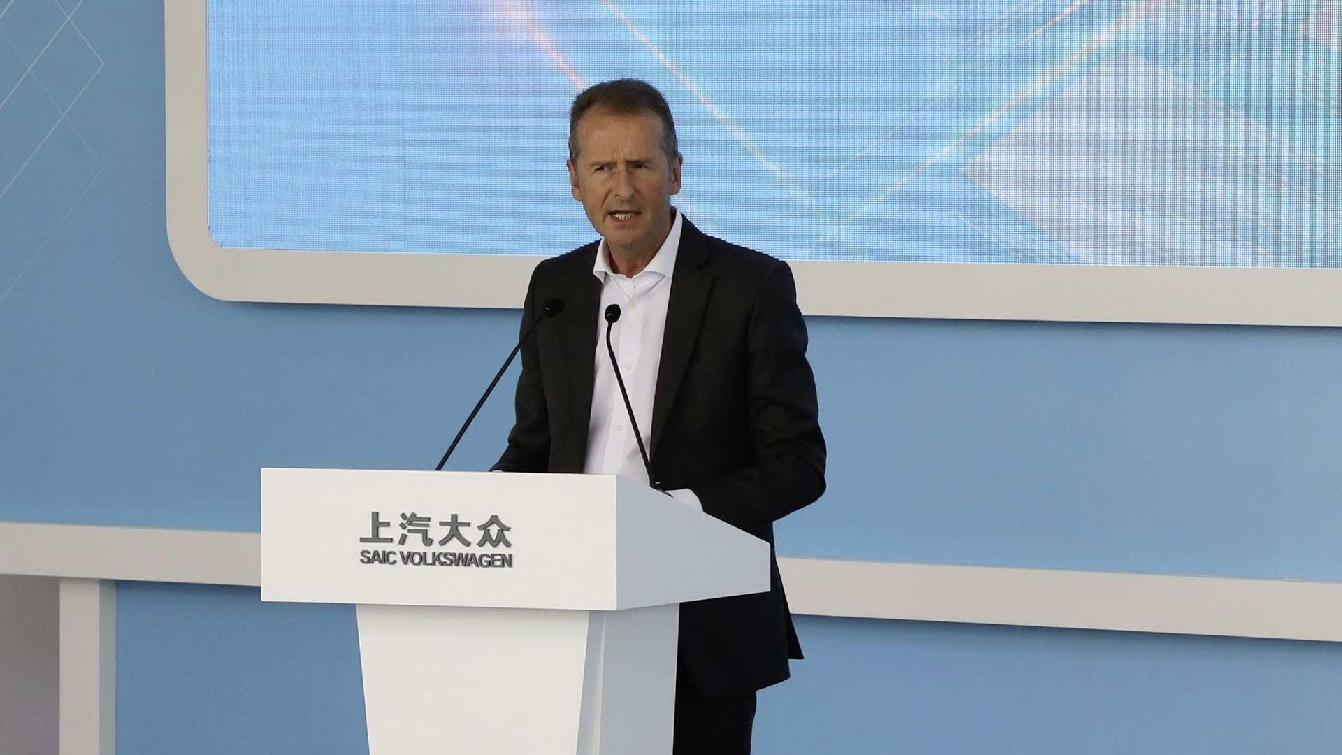 Volkswagen-China-new-electric-vehicle-factory-ground-breaking-ceremony-Herbert Diess