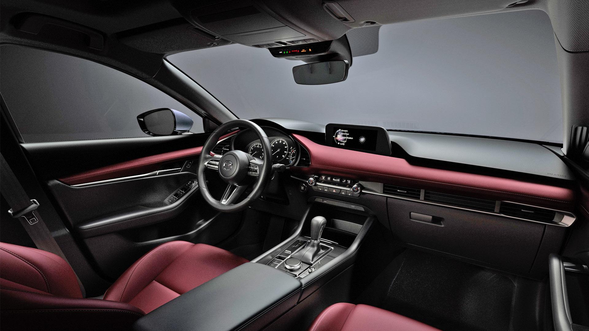 2019-Mazda-3-Interior-Burgundy