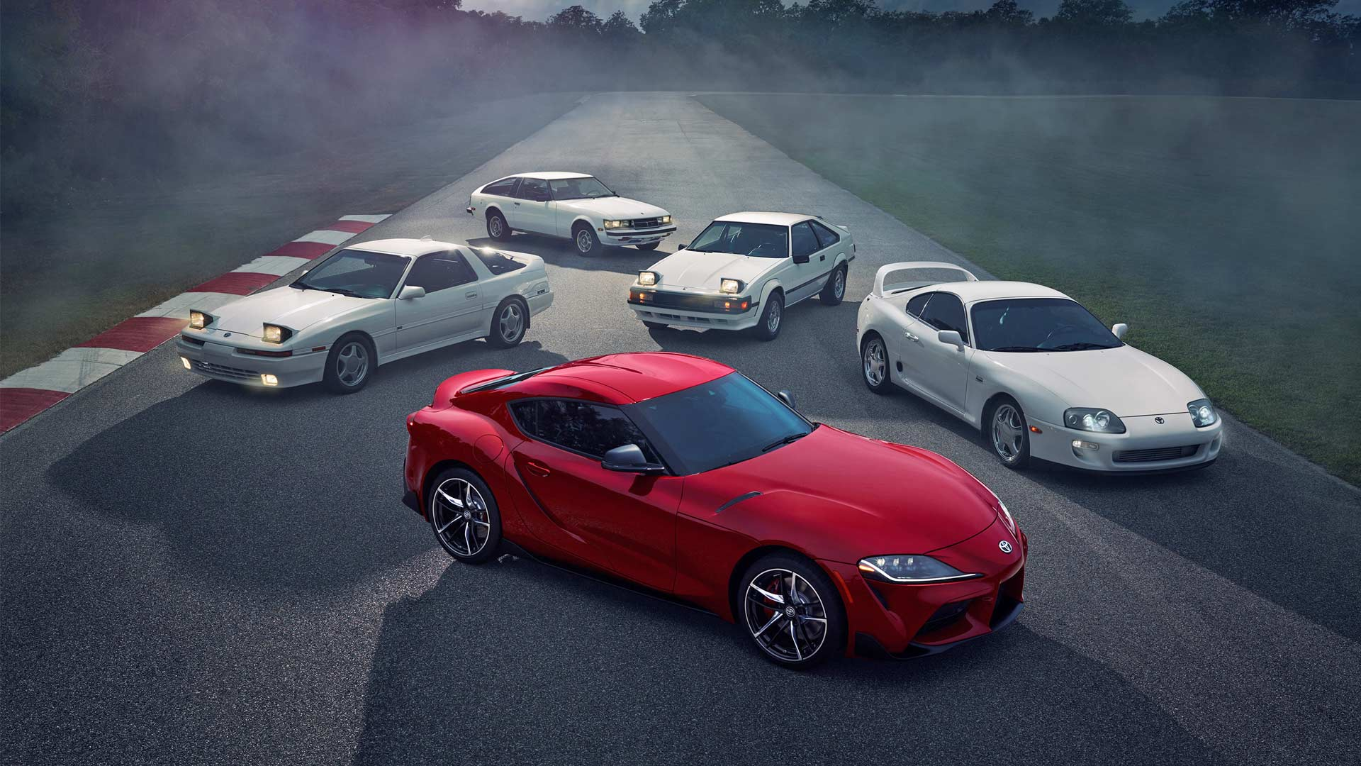 2020-Toyota-Supra-Heritage-Group-Shot
