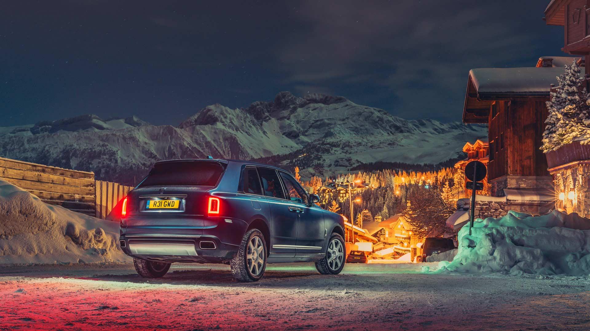 Rolls-Royce Cullinan Courchevel 1850 ski resort
