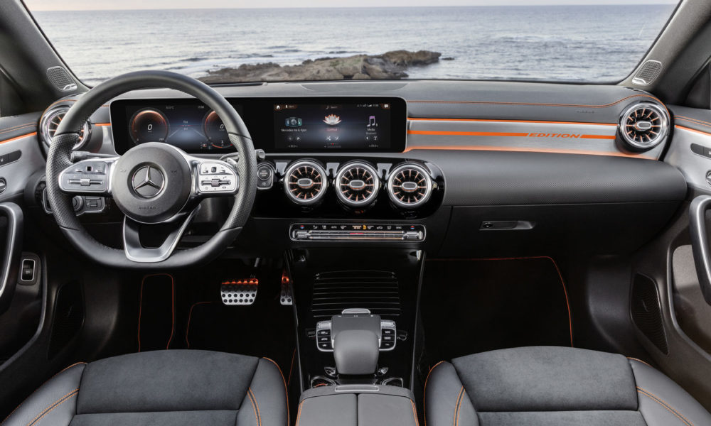 second generation 2020-Mercedes-Benz-CLA-Coupé-Edition 1 Interior