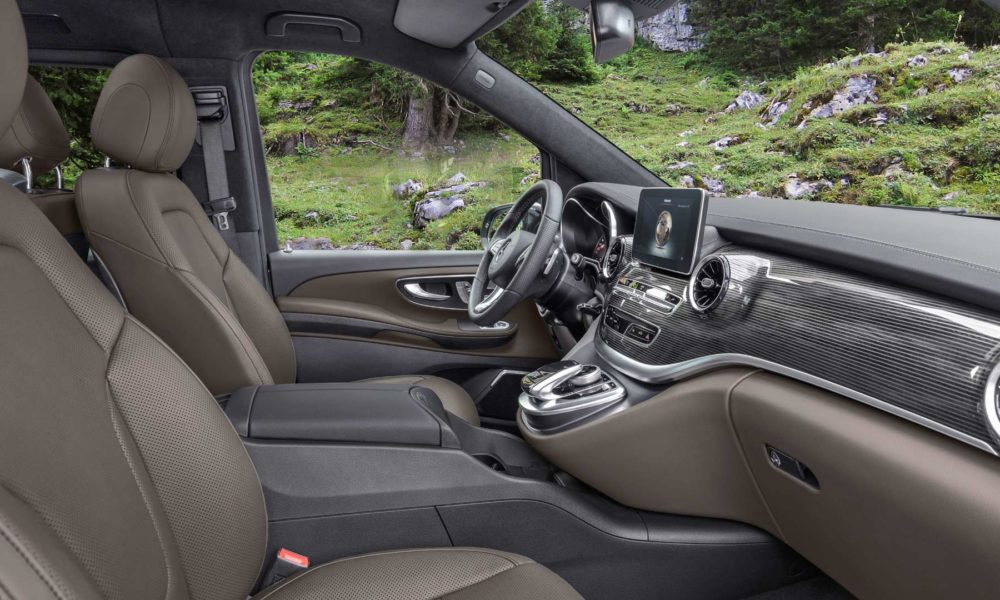 2019-Mercedes-Benz-V-Class-facelift-Interior Tartufo Nappa leather