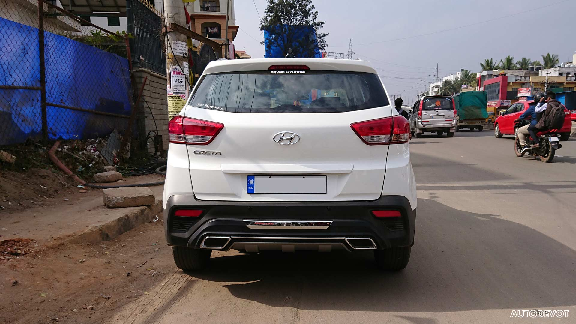 Hyundai-Creta-with-fake-exhaust-India