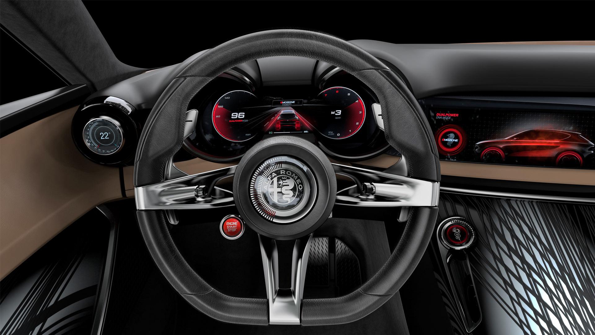 Alfa Romeo Tonale concept Interior Steering Wheel Instrument Cluster
