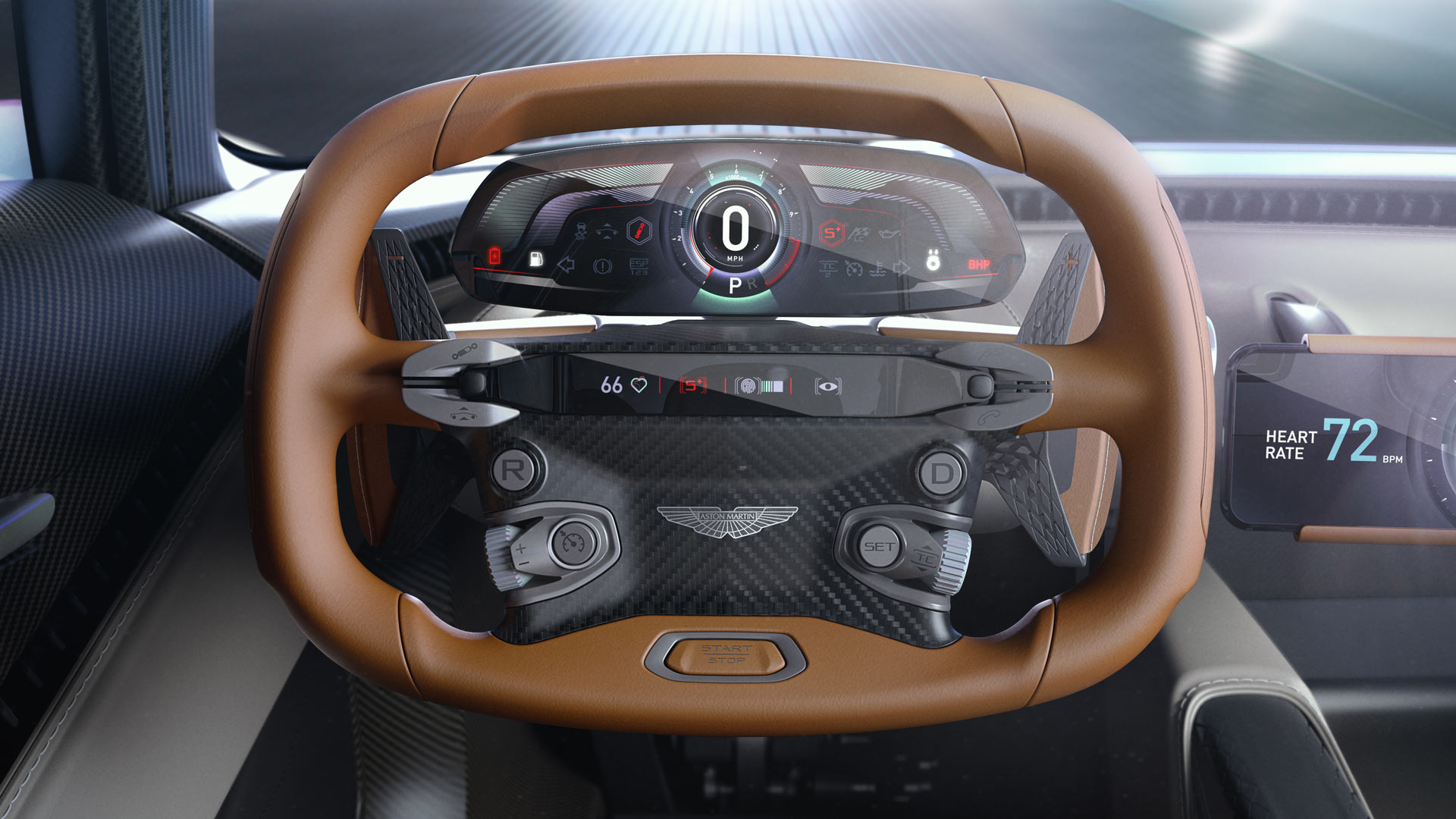 Aston Martin AM-RB 003 Interior Steering Wheel Instrument Cluster Display