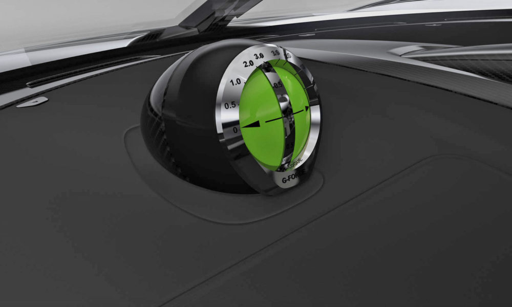 Koenigsegg-Jesko Interior Analogue G-Force Meter