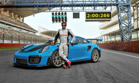 Porsche 911 GT2 RS Narain Karthikeyan Buddh International Circuit lap record