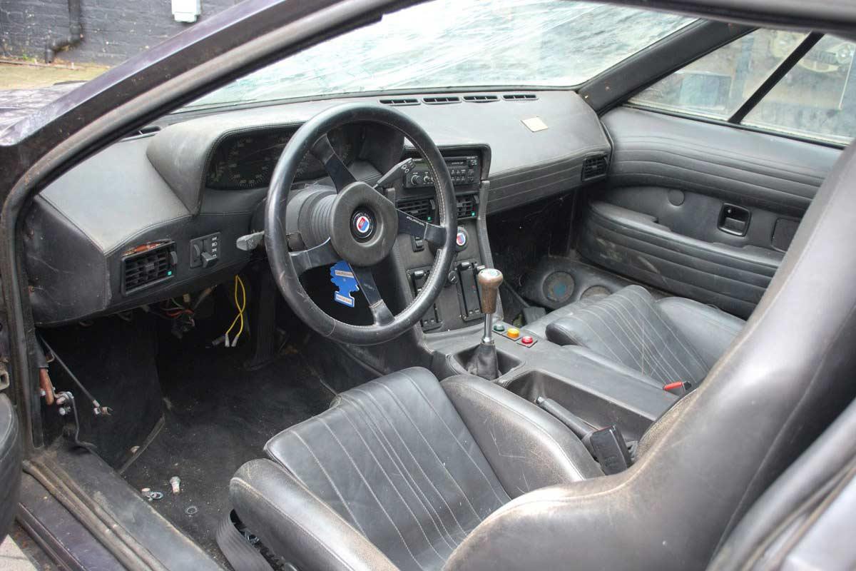 Harald-Ertl-1979 BMW M1 Interior