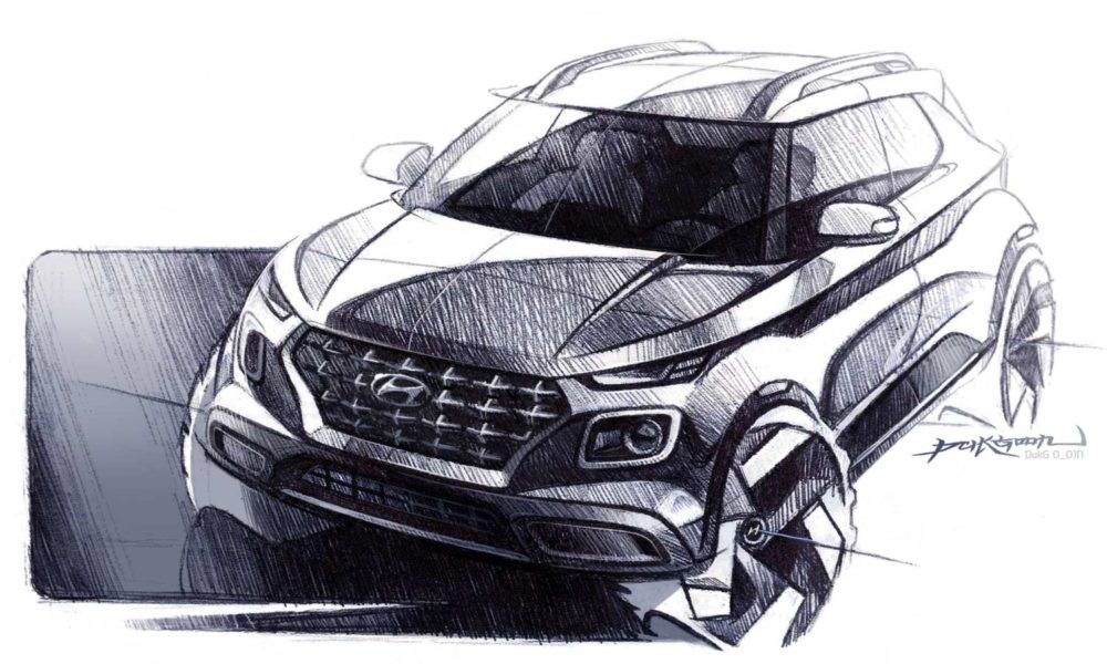 Hyundai-Venue-Sketch